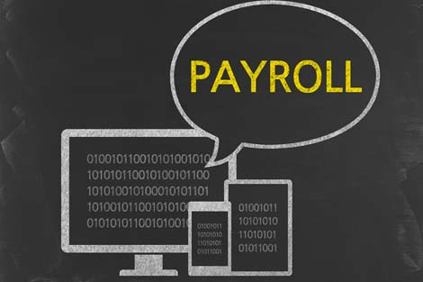 Computers with the word Payroll