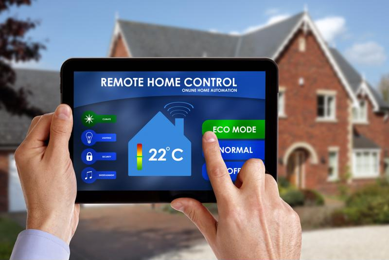 tablet with thermostat software displayed
